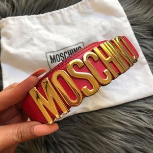 MOSCHINO ❤️ UNISEX LEATHER BELT SZ 54